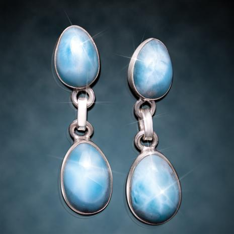 Larimar Pear Drop Earrings