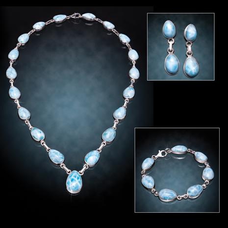 Larimar Pear Drop Collection