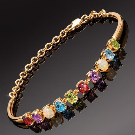 Gemstone Rainbow Bracelet