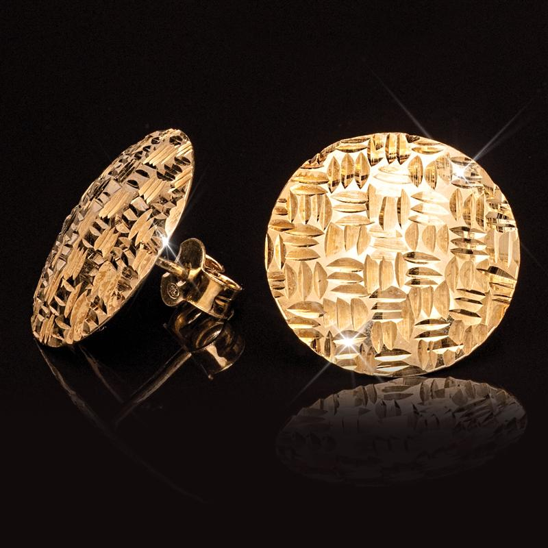 Italian-Made Woven Button Earrings