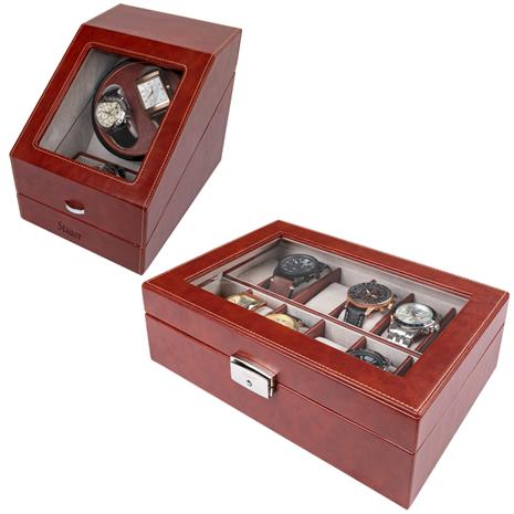 Stauer Watch Winder & Watch Case