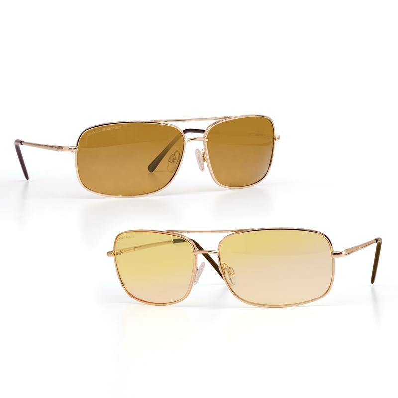 Eagle Eyes Navigator Sunglasses (Gold) plus Aviator Night-Lites (Gold)