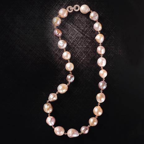 Baroque Pearl Opulence Necklace