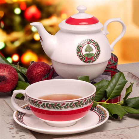 Vintage Christmas Tree Tea for One