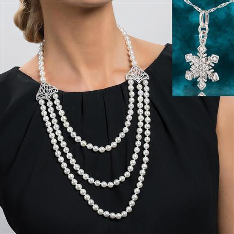 Layered in Luxury Necklace with Free Snowflake Necklace