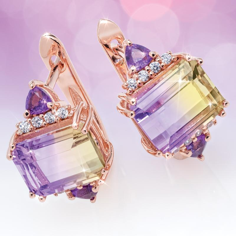 Ametrine Bliss Earrings (5 1/4 ctw)