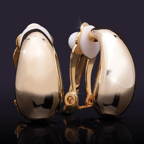 Clip-On 14K Yellow Gold-Finished Earrings