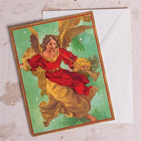 Trumpeting Angel Christmas Cards (Large)