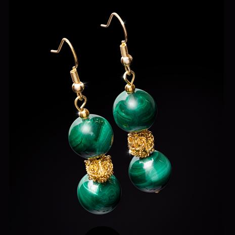 Malachite Empress Earrings