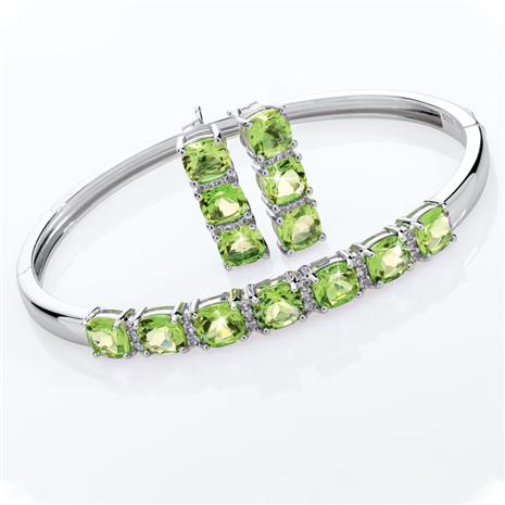 Verdant Peridot Bracelet and Earrings