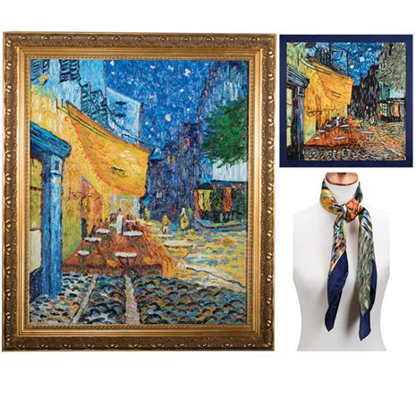 Cafe Terrace At Night By Vincent Van Gogh PLUS FREE Silk Scarf