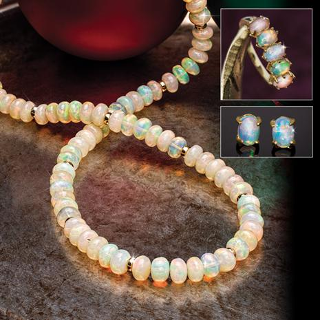 Rainbow Opal Collection (Necklace, Ring & Earrings)