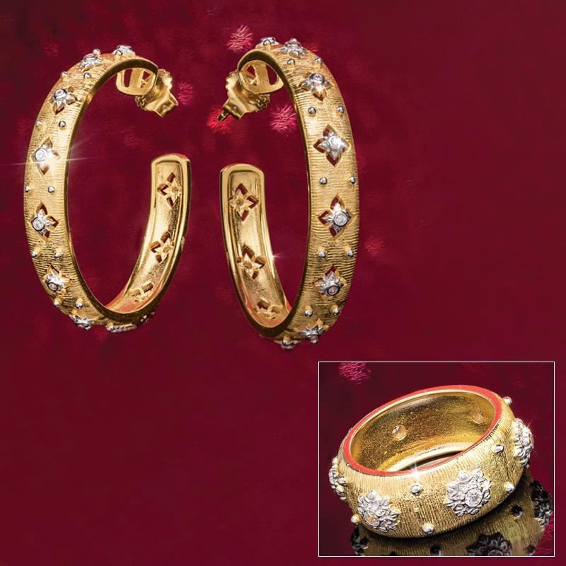 Florentine Ring and Earrings Set