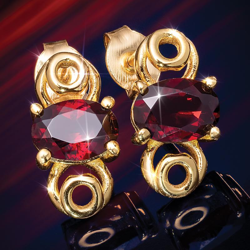 Forbidden Fruit Red Garnet Earrings