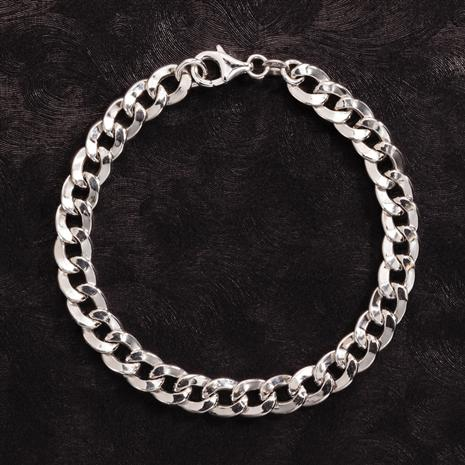 Rhodium-Finished Sterling Silver Grumetta Bracelet