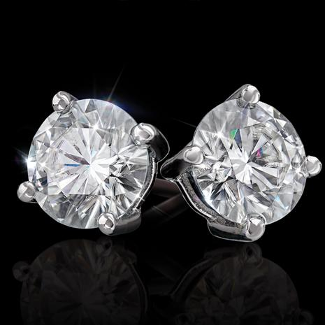 Moissanite Solitaire Earrings (1 ctw)