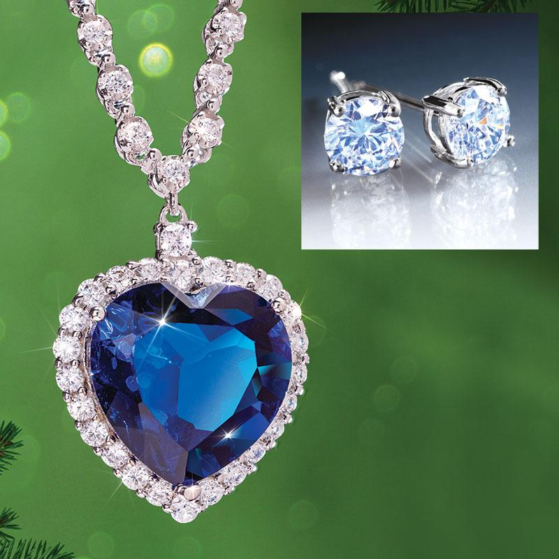 Heart of the Volcano Necklace PLUS FREE Stud Earrings
