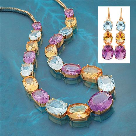 Wonderland Necklace and Earrings Set