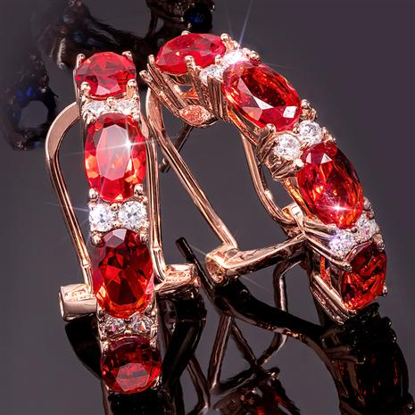 Stress-Free Glamour Earrings Ruby Red)