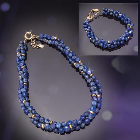 Chronicle Lapis Necklace and Bracelet