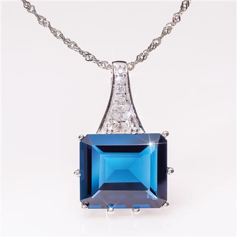 Blue Fire Helenite Pendant