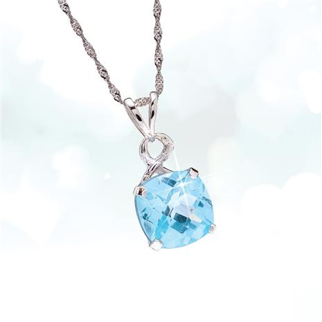 Big Blue Topaz Pendant