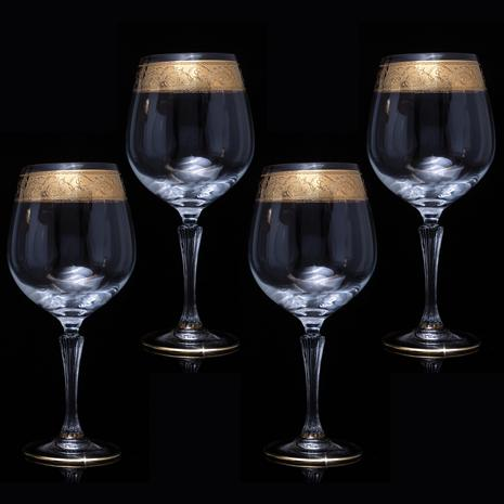 Italian 24K Gold Red Wine Glass (Set of 4)