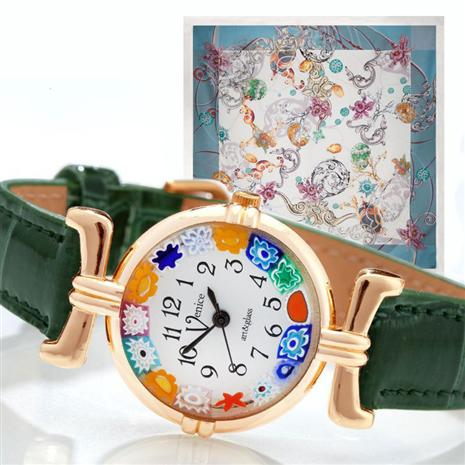 Venezia Murano Watch Hunter Green with FREE Uovo del Tesoro Scarf