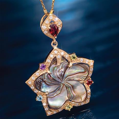Rainbow's End Abalone Pendant plus chain