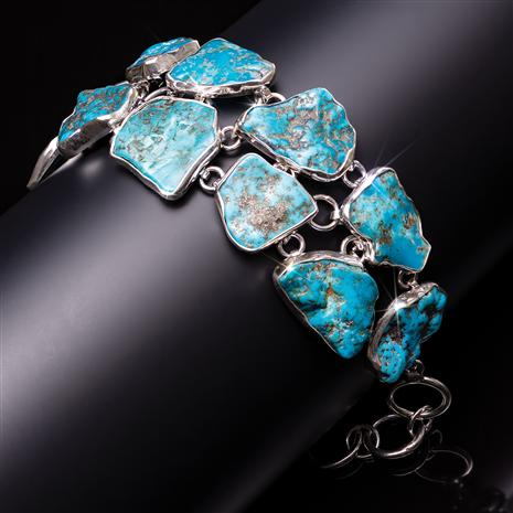 Sterling Silver Turquoise Statement Bracelet