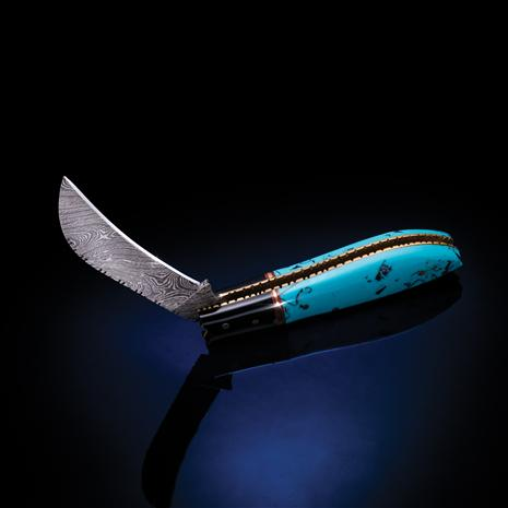 Damascus Blues Knife