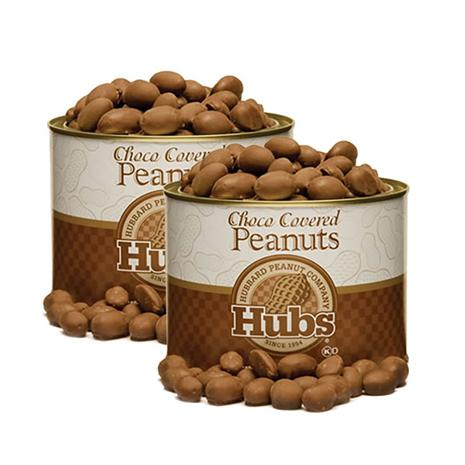 Chocolate Covered Hubs Salted Peanuts (2-20 oz. tins)