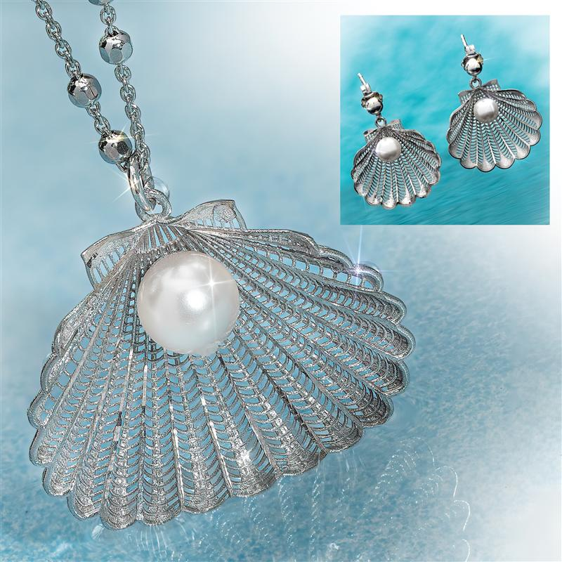 Wave of Beauty Necklace & Earrings