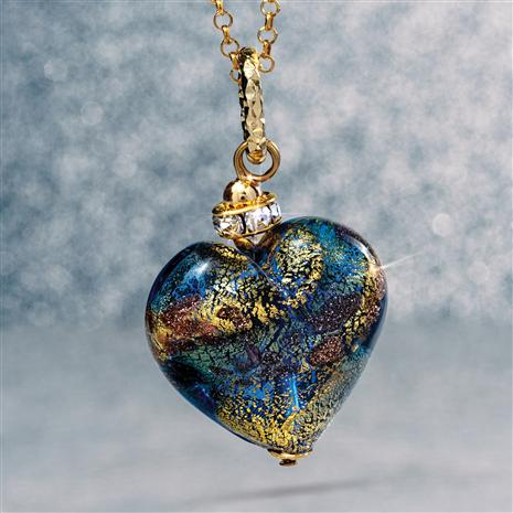 Amore Murano Heart Pendant plus chain