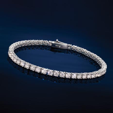 Sterling Silver Moissanite Tennis Bracelet