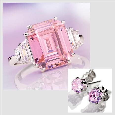 20 Million Pink Ring and FREE Earrings