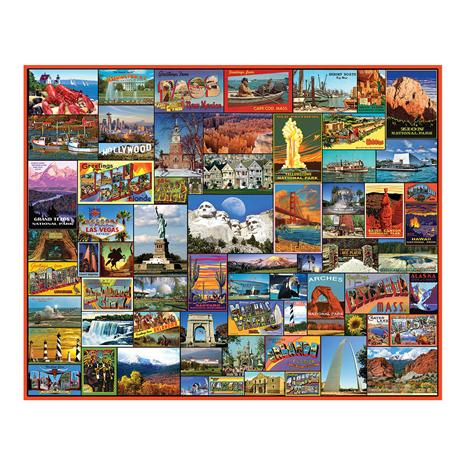 Best Places in America Puzzle (1,000 pieces)
