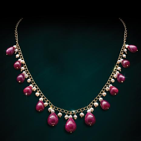 Ruby Drops Necklace