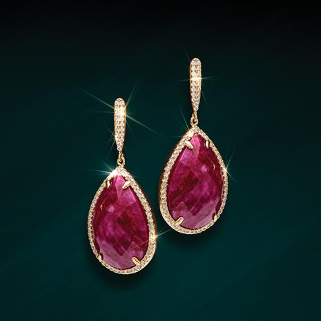 Ruby Drops Earrings