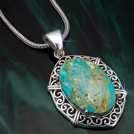 Peruvian Opal Sky View Pendant and Chain