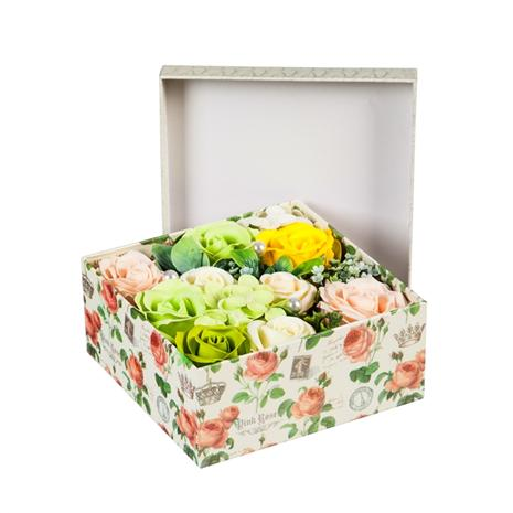 Blooming Rose Soap Gift Box (Green)