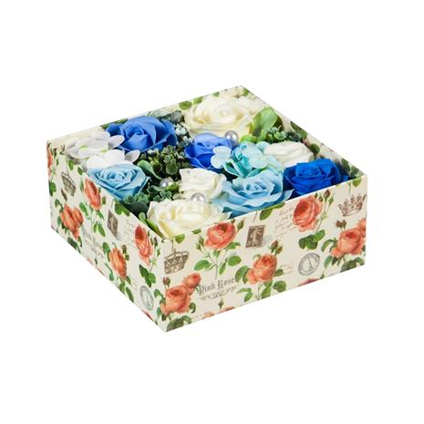 Blooming Rose Soap Gift Box (Blue)