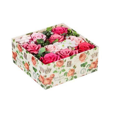 Blooming Rose Soap Gift Box (Fuchsia)