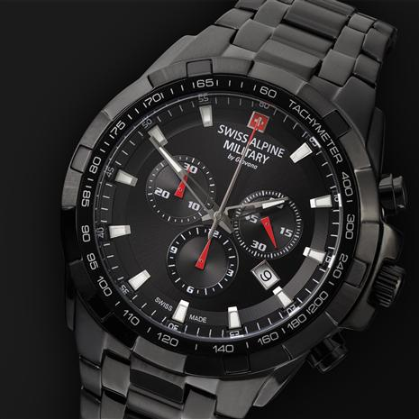 Swiss Alpine Military Chronograph (Midnight)