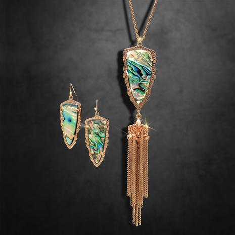 Abalone Arrowhead Necklace & Earrings