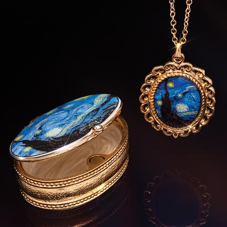 Starry Night Jewelry Box & Necklace Set