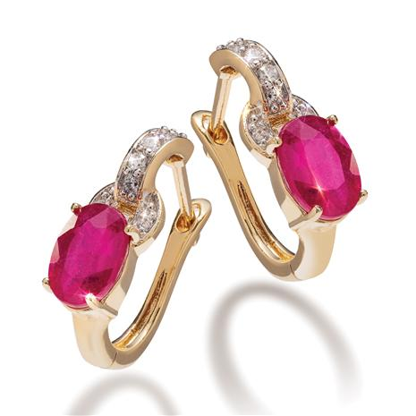 Haute Ruby Earrings