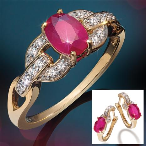 Haute Ruby Ring & Earrings