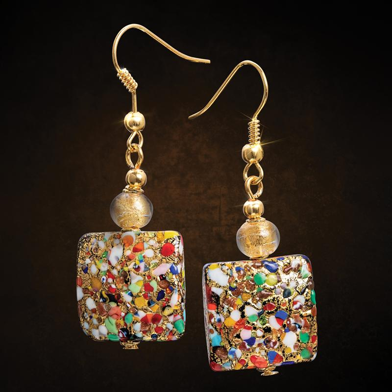 Arlecchino Murano Earrings