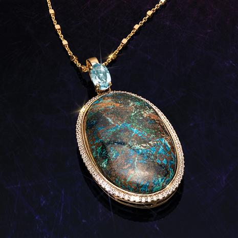 Shattuckite Pendant and Chain